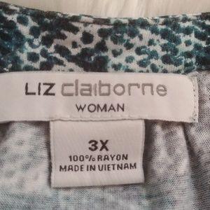 Liz Claiborne Tops - Liz Claiborne teal plaid top, three-quarter sleeve